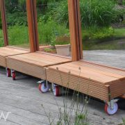 Mobiel windscherm grote wielen