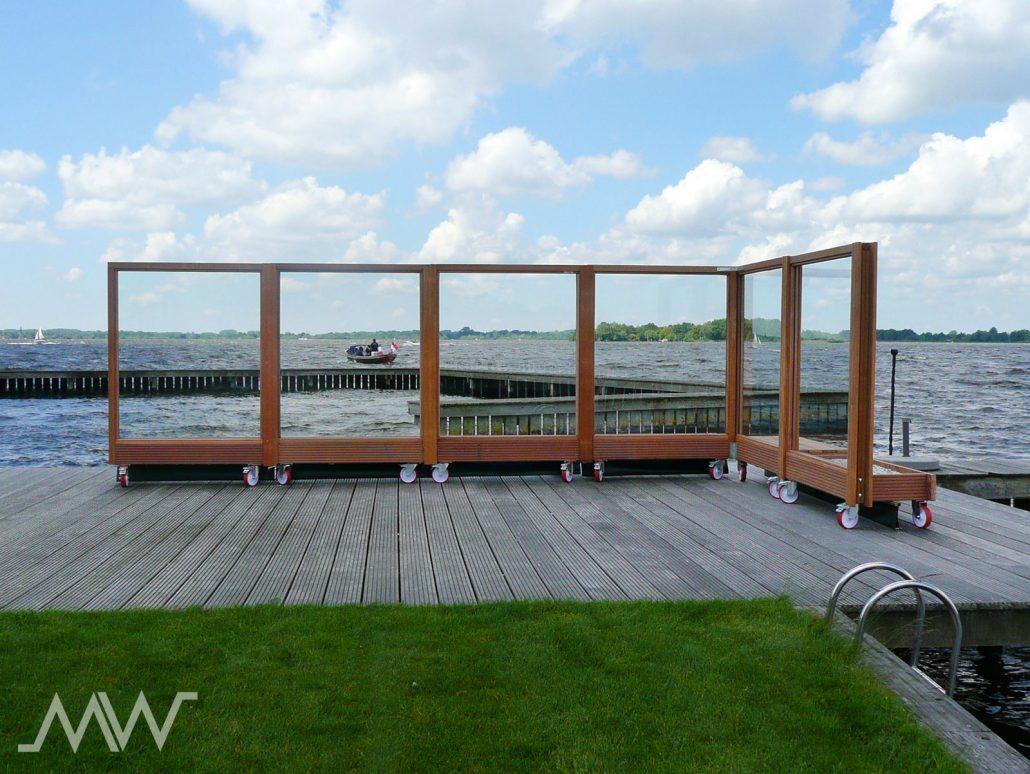 Plexiglas Windscherm Tuin : Mobielwindscherm verplaatsbaar windscherm